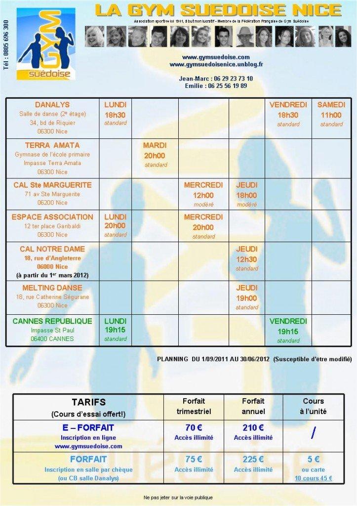 ATTENTION : Votre nouveau planning! dans COURS DE LA SEMAINE planning-2011-2012-723x1024